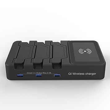 YockTec® Qi Soporte de cargador inalámbrico universal rápido ...