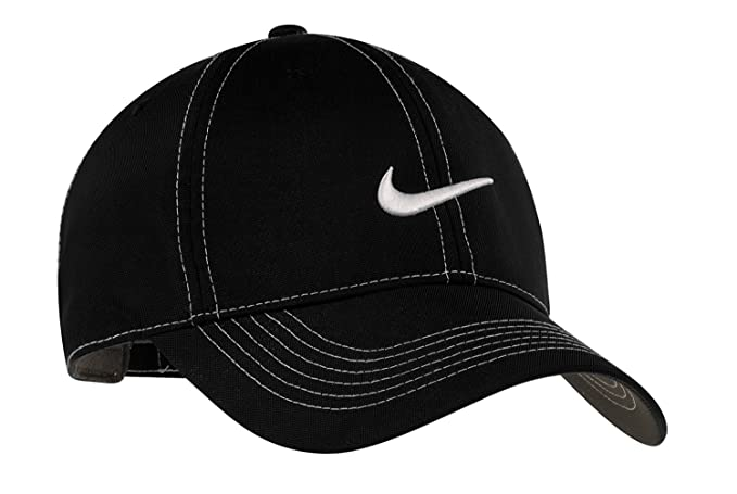 Nike Original Contrast Stitching Water Resist Swoosh Embroidered Baseball  Cap - Black b80e193739d