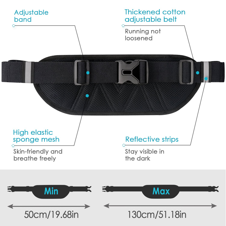 American Flag Paddle Sport Waist Bag Fanny Pack Adjustable For Hike