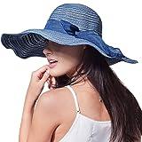 FURTALK Women Summer Wide Brim Sun Hats 100% Cotton Packable Beach Hat for Outdoor
