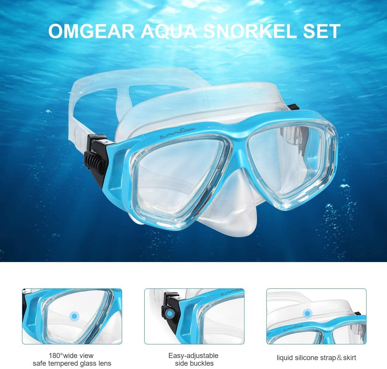 Hot Transparent Silicone Diving Dive Tube Snorkel Mouthpiece Regulator JI