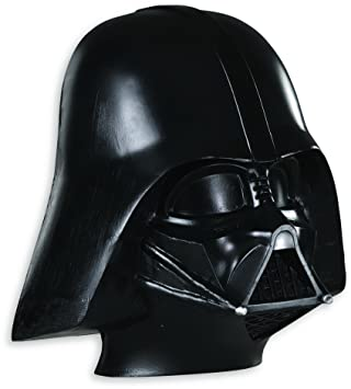Star Wars - Media máscara de Darth Vader para niños, talla única 4-8 años (Rubies 3446)