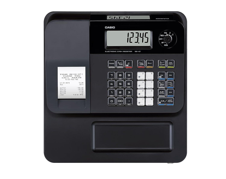 Casio SE-G1SB-PK - Caja registradora (cajón pequeño para dinero, impresora y pantalla para cliente), color rosa: Amazon.es: Oficina y papelería