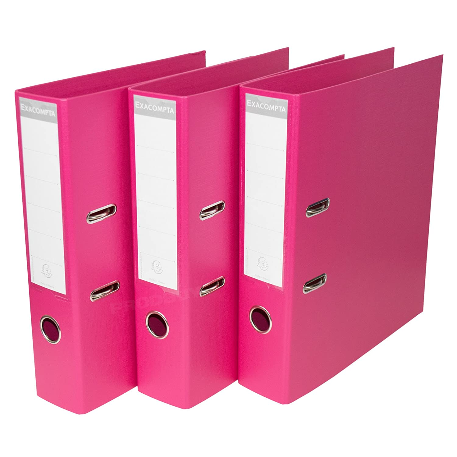 [Pack de 3] color rosa A4 Archivadores De Palanca 70 mm almacenamiento de papel archivo Documento Legal carpetas: Amazon.es: Oficina y papelería