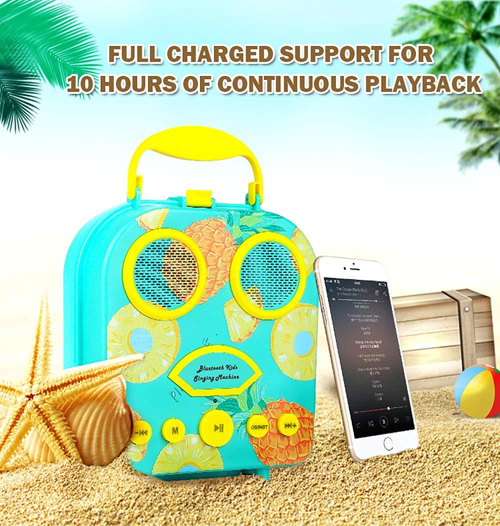 Kids Karaoke Machine with Microphone, Bluetooth Rechargeable Kids Handbag Karaoke Music Player Toy Children MP3 Player Loudspeaker with Microphone (Handbag Green) by Kidsonor (Image #5)