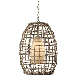 Kenroy Home 93316TN Sea Grass 1-Light Pendant Fixtures