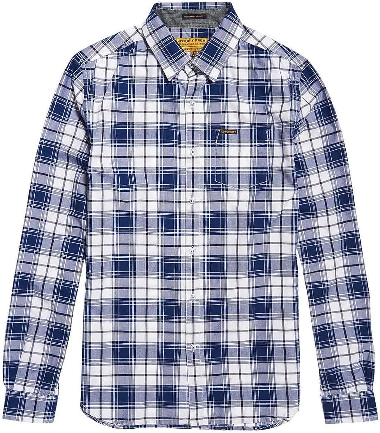 Superdry Camisa Cuadros Raw Oxford Azul: Amazon.es: Ropa y ...