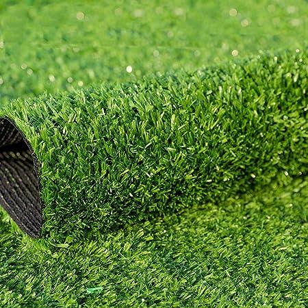 JLDN Cesped Artificial Terraza, Cesped sintético Hierba con Orificios de Drenaje Respaldo de Goma para Jardines al Aire Libre 1,5 cm / 0,59inch Altura de la Pila,Armygreen_16x2m/48x6ft: Amazon.es: Hogar