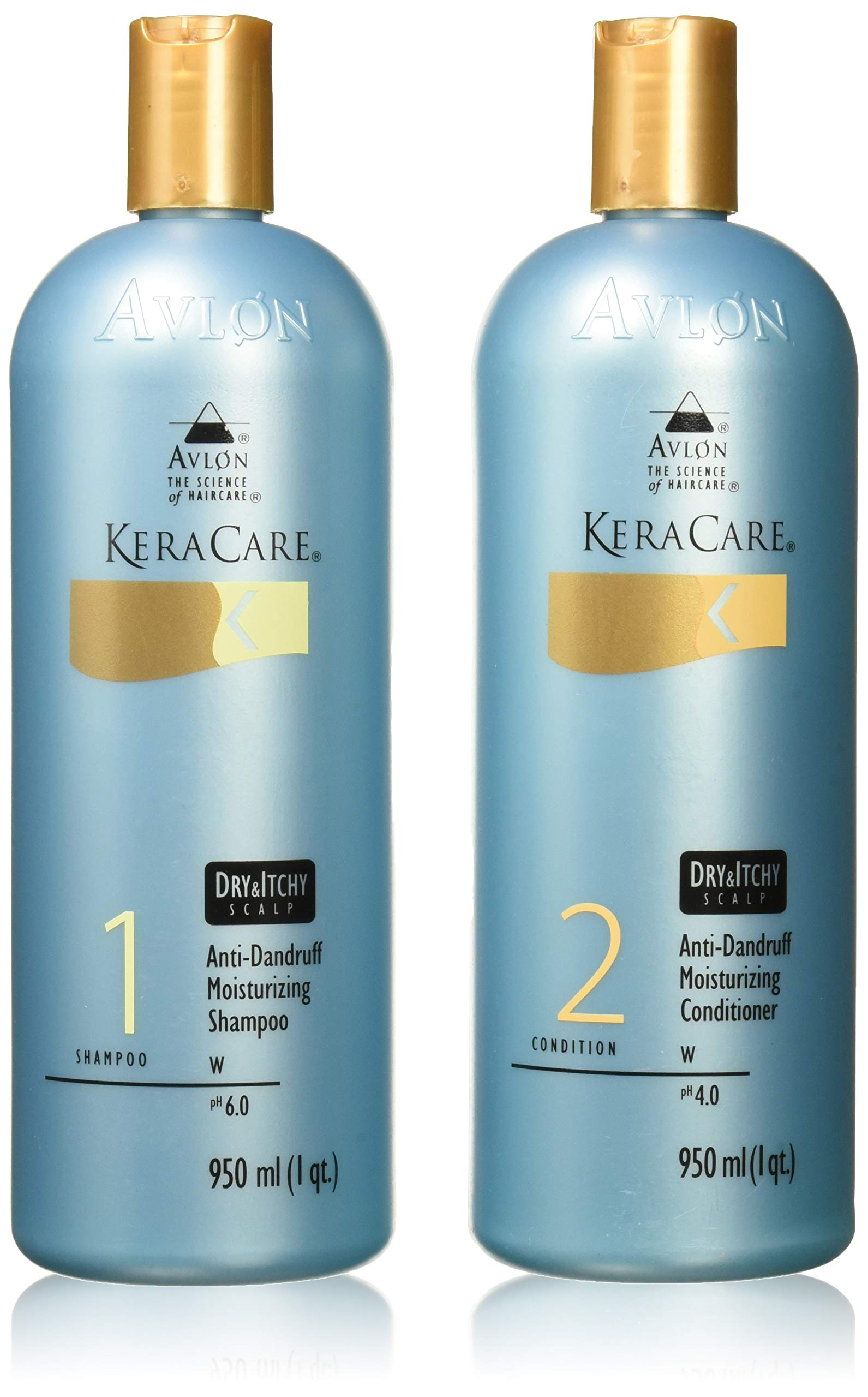 Avlon Keracare Dry Itchy Conditioner and Scalp Moisturizing Shampoo, 32 Ounce by Avlon