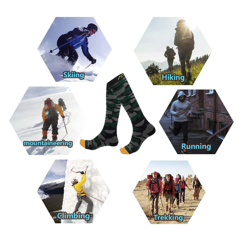 Chaussettes de Snowboard Femme Thermiques et Respirantes pour Sport dhiver Hicool Chaussettes de Ski