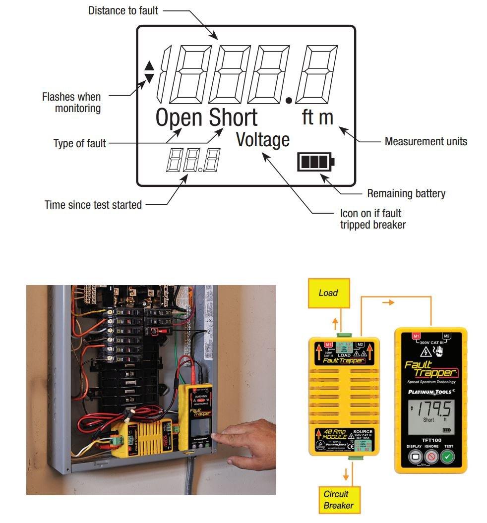 Platinum Tools Tft100 Fault Trapper Arc Circuit Tester And Gardner Bender Gfi3501 Ground Receptacle Locator