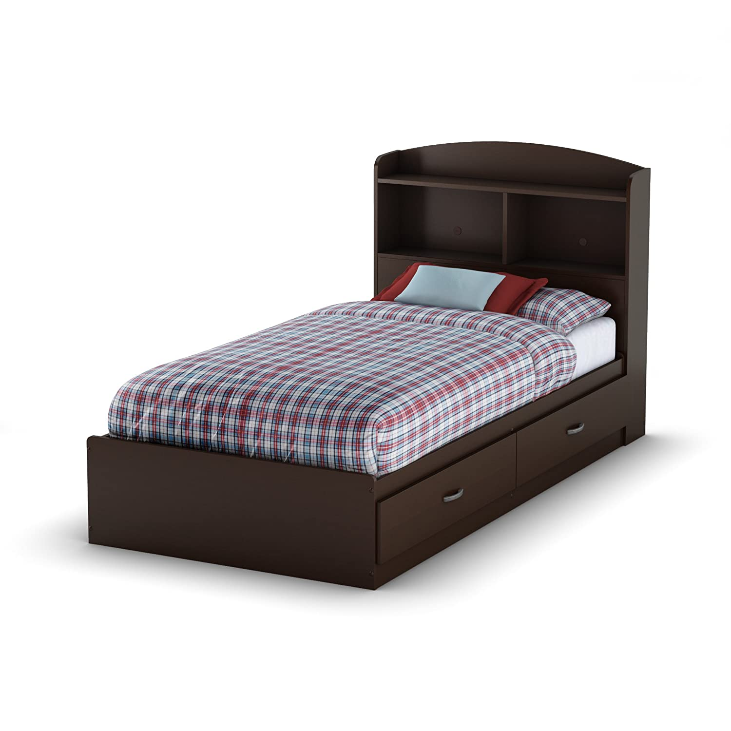 south shore furniture logik collection twin mates bed chocolate  - south shore furniture logik collection twin mates bed chocolateamazonca home  kitchen
