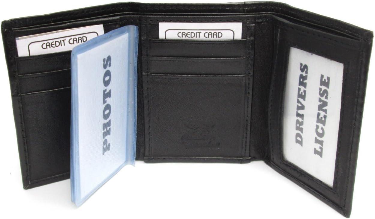 Ladies Black Leather Lambskin Wallet W Coin Purse 796