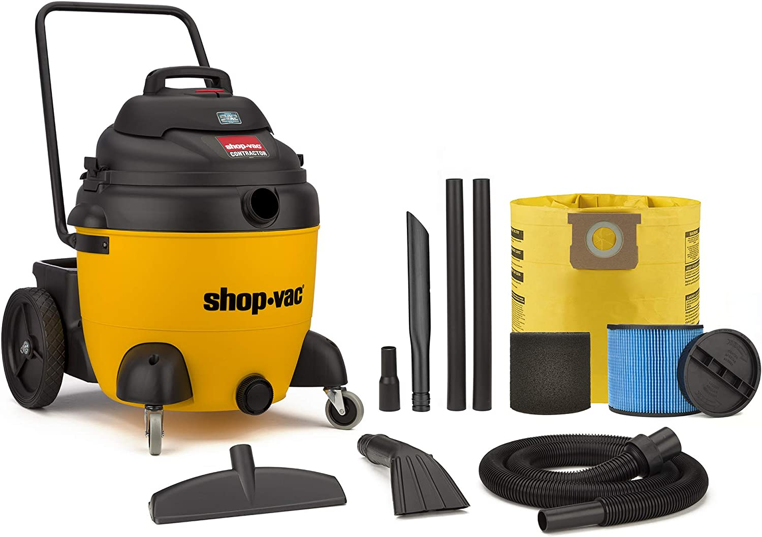 Shop-Vac 9627410 18 Gallon 6.5 Peak HP Contractor Wet Dry Vacuum