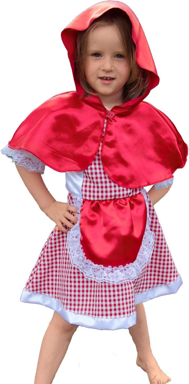Krause & Sohn Infantil Disfraz Caperucita Roja Klara (Tallas 98 ...