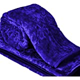Craftscity Soft Korean Heavy Duty Microfiber Indian Mink Blanket for Double Bed (Blue)