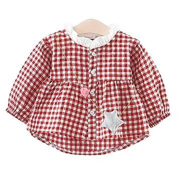f70d49d9cd5e9 YY-Natuhi ベビー服 子供服 女の子 ブラウス tシャツ 長袖 チェック柄 トップス おしゃれ かわいい