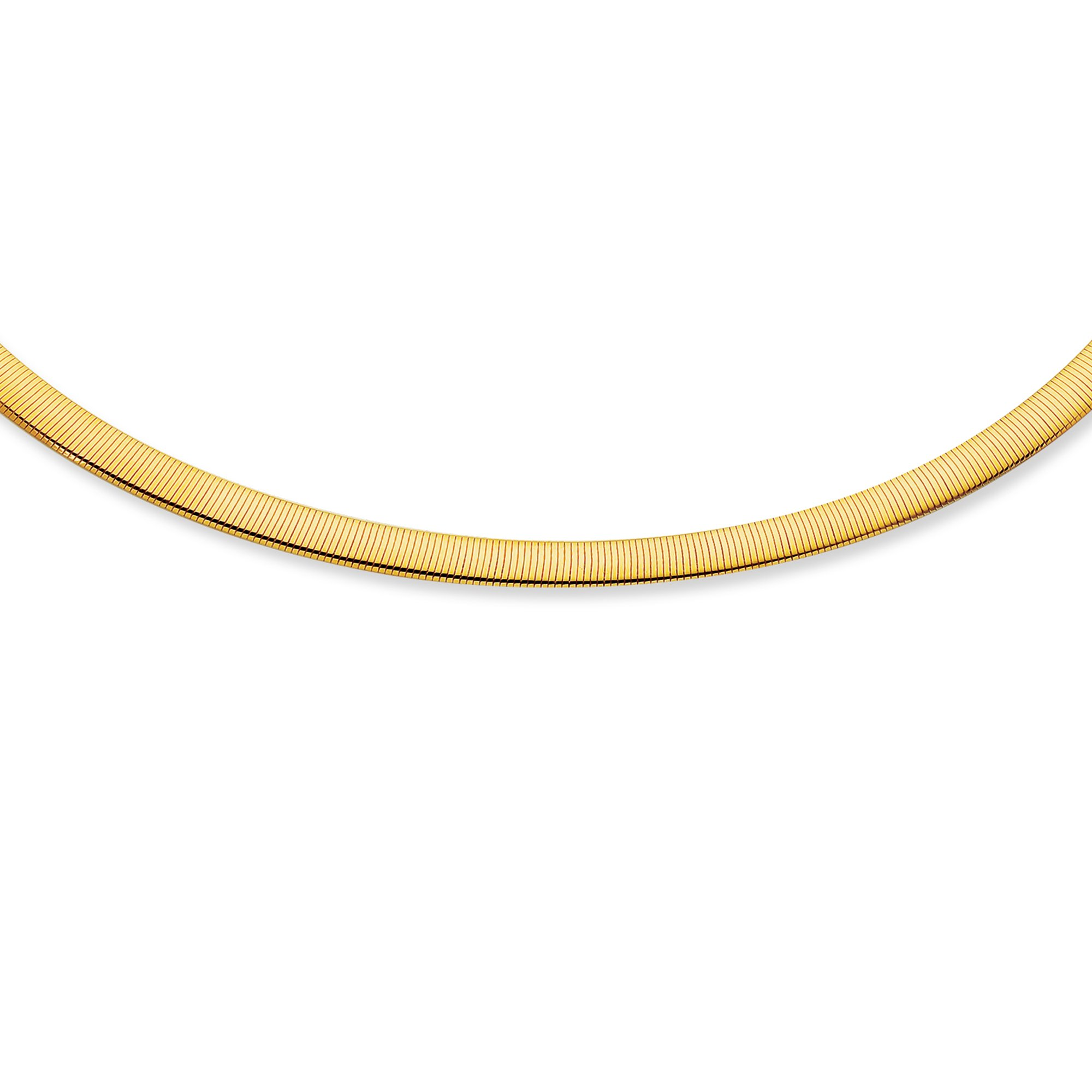 Jewelstop 14k Gold 6 mm Reversible Omega Necklace - 17''