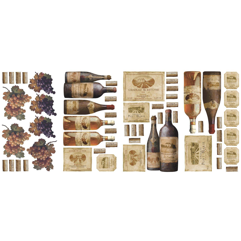 RoomMates RMK1257SCS Wine Tasting Peel & Stick Wall Decals ...