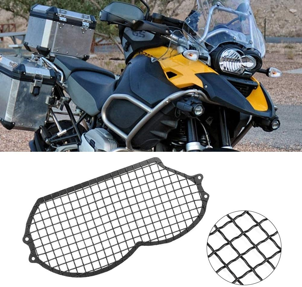 Motorrad Scheinwerfer Schutzgitter Abdeckungs Schutz Scheinwerferabdeckung passend f/ür R1200GS 08-12 Scheinwerfer Schutzabdeckung ADV 08-13