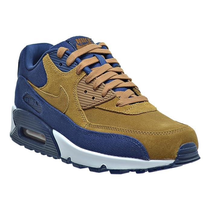 wholesale dealer 34687 c3964 Amazon.com   Nike Air Max 90 Premium Men s Shoes Ale Brown Ale  Brown Midnight Navy 700155-201 (9.5 D(M) US)   Fashion Sneakers