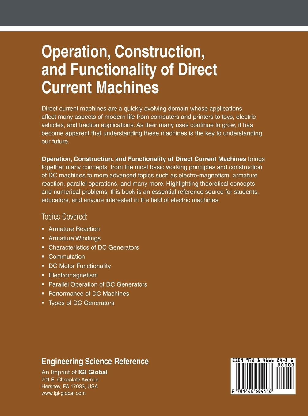 Operation Construction And Functionality Of Direct Current Dc Motors Principles Machines Muhammad Amin Mubashir Husain Rehmani Books