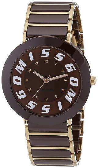 Miss Sixty SIR006 - Reloj para niñas, correa de cerámica color marrón: Amazon.es: Relojes