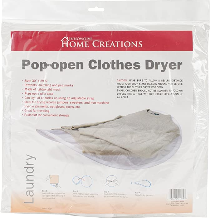 Innovative Home Creations 1304 Collapsible Sweater Dryer, 30
