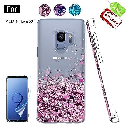Amazon.com: Carcasa para Samsung Galaxy S9, con protector de ...