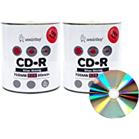Smart Buy Shiny Silver Top CD-R 200 Pack 700mb 52x Blank Recordable Discs, 200 Disc, 200pk