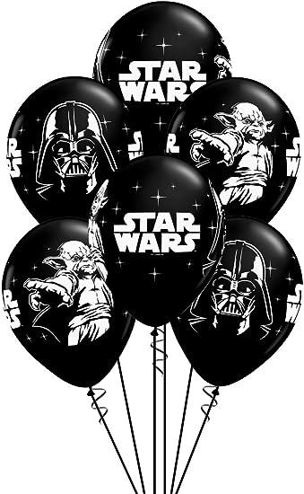 Amazon.com: Globos de látex 11 in Star Wars Black ...
