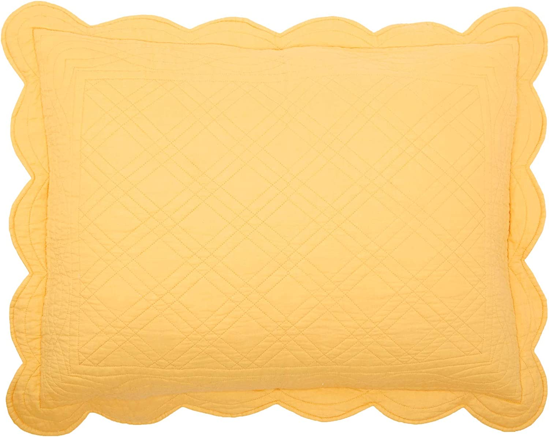 BrylaneHome Florence Sham - King, Dandelion Yellow