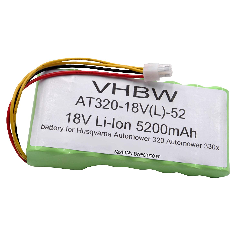 Vhbw Li-Ion Batteria 6800mAh (18V) per tagliaerba, Robot tagliaerba Husqvarna Automower 320, 330x (Sono necessarie 2 batterie), 420, 430X 2016