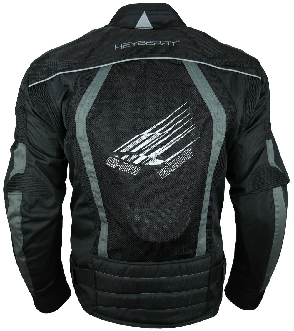 Sommer Motorradjacke Airmesh Motorrad Jacke Schwarz Grau Gr XL