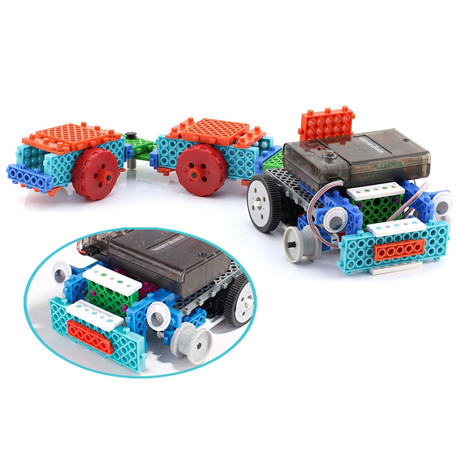 Boy Toys STEM Robot Kit Building Toys Remote Control Building Kits for Teen/Girl/Boy Gifts Building Blocks Construction Set Build Your Own RC Machines 123 Pieces by PACKGOUT (Image #3)