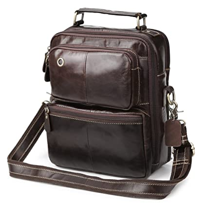 6feeb5cd2a6 Image Unavailable. Image not available for. Color  Zicac Men s Genuine  Leather Shoulder Handbag Cross Body Messenger ...