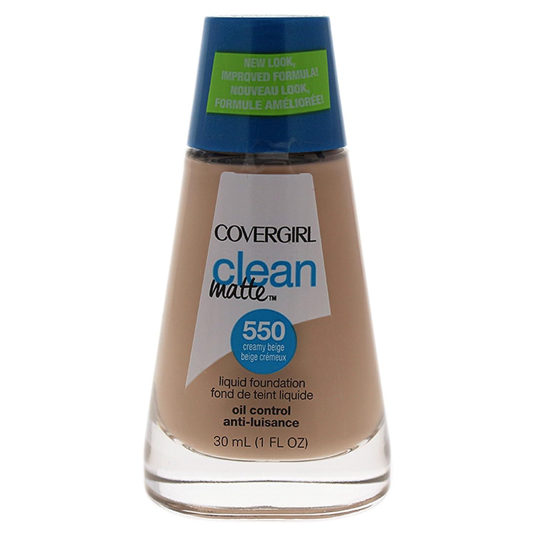 CoverGirl Clean Oil Control Liquid Makeup, Creamy Beige 550, 1.0 Ounce Bottle