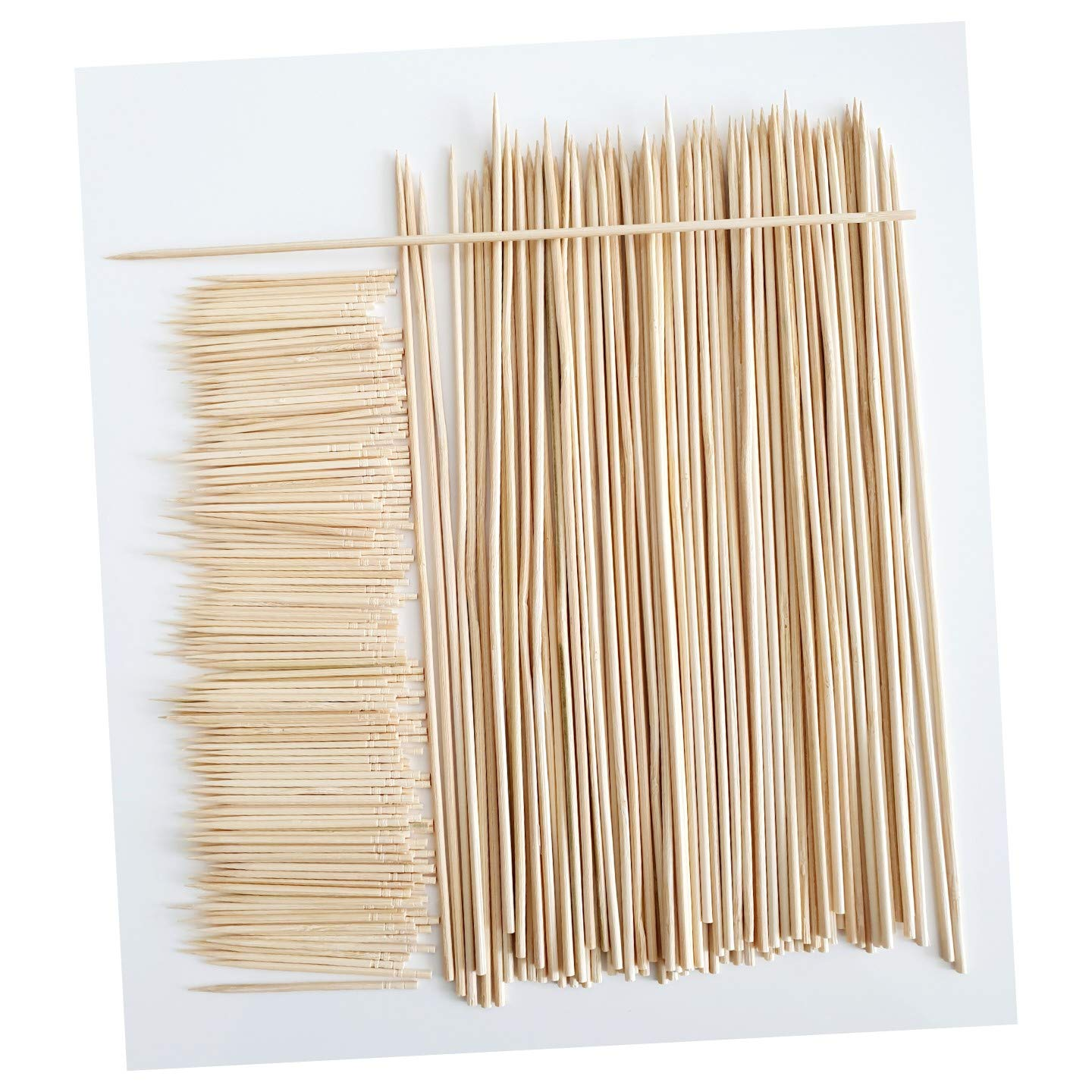 Suitable for Party and Kitchen Grilling Cocktail Kebab 200 Picks /& 88 Skewers TIIPLII Bamboo Cocktail Sticks /& Skewers 288 pcs for Appetizer and Fruit Chocolate Fountain No Splits or Debris