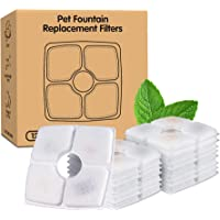 Noodoky 12-Pack Square Filters for Cat Fountains, Replacement Filters, Ion Exchange Resin Activated Carbon Filters for…