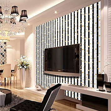 Buy Jaamso Royals Vinyl Golden Circle Vertical Stripes Stone Peel And Stick Self Adhesive Wallpaper 45 X 200 Cm Multicolor Self Adhesive Wallpaper Online At Low Prices In India Amazon In