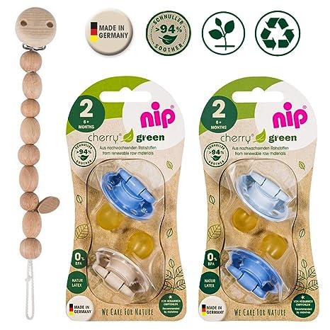 Nip Cherry redondo Aspiradora Chupete 4 unidades Boy Set//Talla 2//6 + meses//azul & Turquesa + Verde & Azul Claro