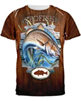 Red Fish Trophy All Over Adult T-Shirt
