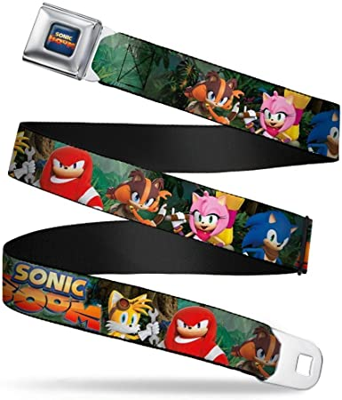 SONIC BOOM CHARACTERS BUCKLE DOWN ADJUSTABLE SEAT-BELT STYLE POLYESTER BELT