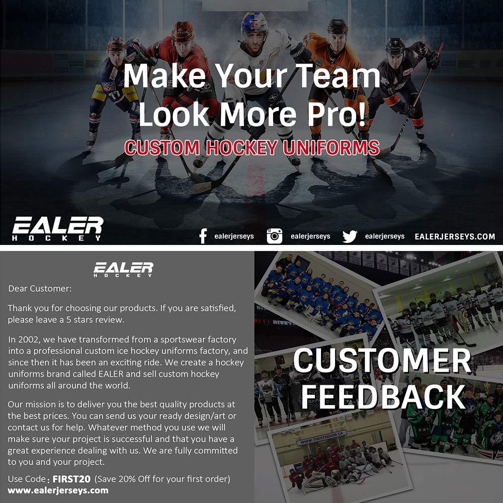 Hockey Socks(2Pack), EALER Mens & Boys Solid Color Dry Fit Mesh Practice Ice Hockey Sock by EALER