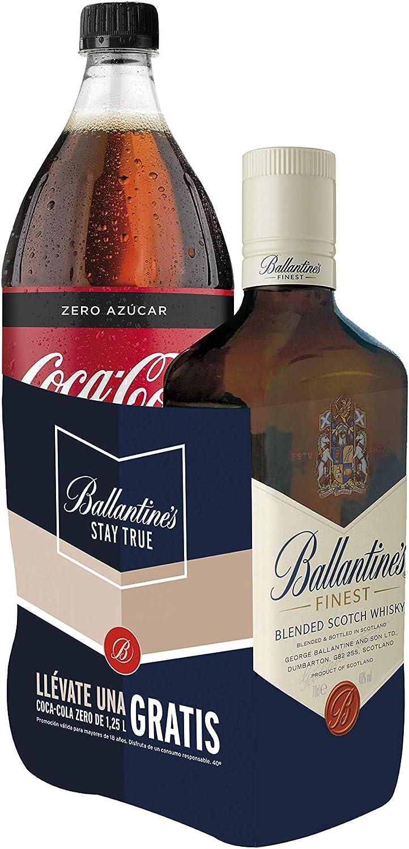 Ballantines Finest Whisky Escocés de Mezcla - 700 ml + Regalo Coca-Cola 1.25L
