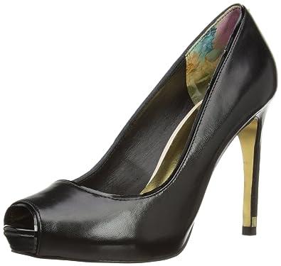 92bd7b6b05 Ted Baker Glister, Women's Peep-Toe Court Shoes, Black, 5 UK: Amazon ...