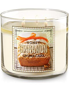 Bath And Body Works 3 Wick Scented Honey Cinnamon Crumb Cake Candle 145 Ounce