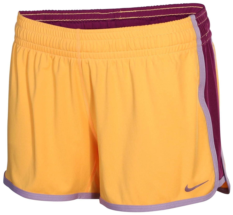 Nike womens 3.5 fly knit shorts Orange/Purple