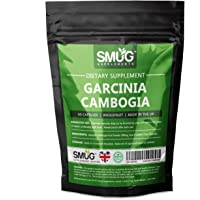 Garcinia Cambogia Pure Whole Fruit | Weight Loss Appetite Suppressant Capsules by Smug | Natural Slimming Supplement