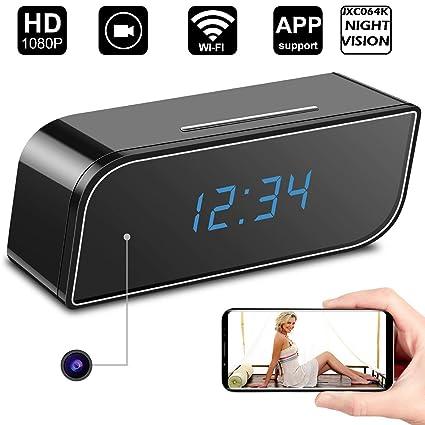 AHAXA 5MP WiFi Spy Camera Clock, Motion Based Hidden Camera, Night Vision  Secret Camera with Audio and Video Recording